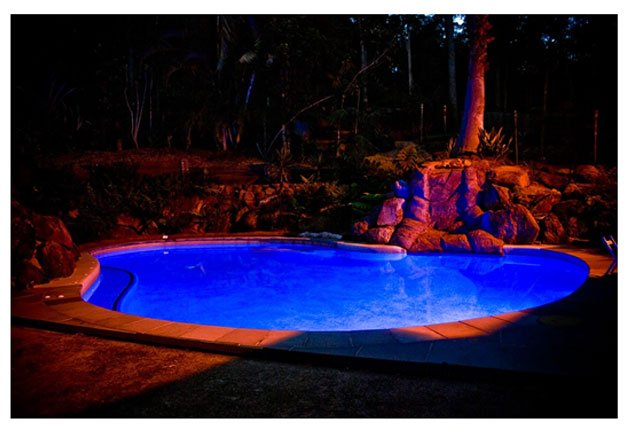 Pool Lighting at Night