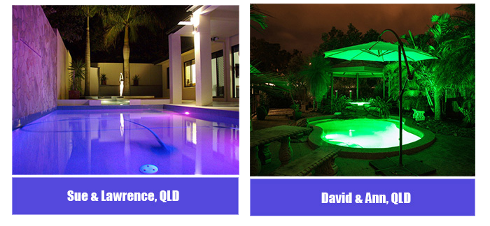 Beautiful Pool Lighting from Queensland Residents
